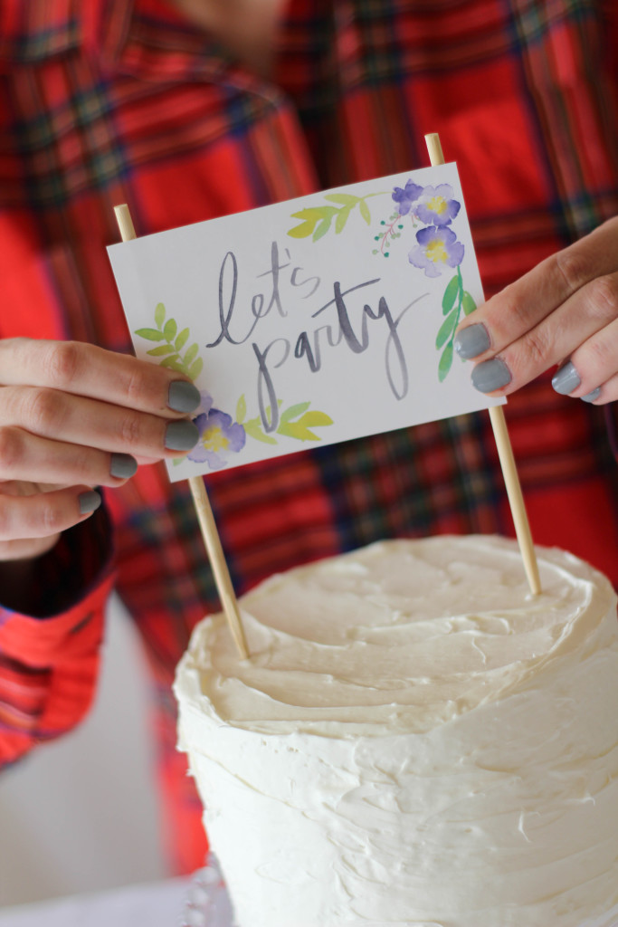 Free Printable Floral Cake Topper