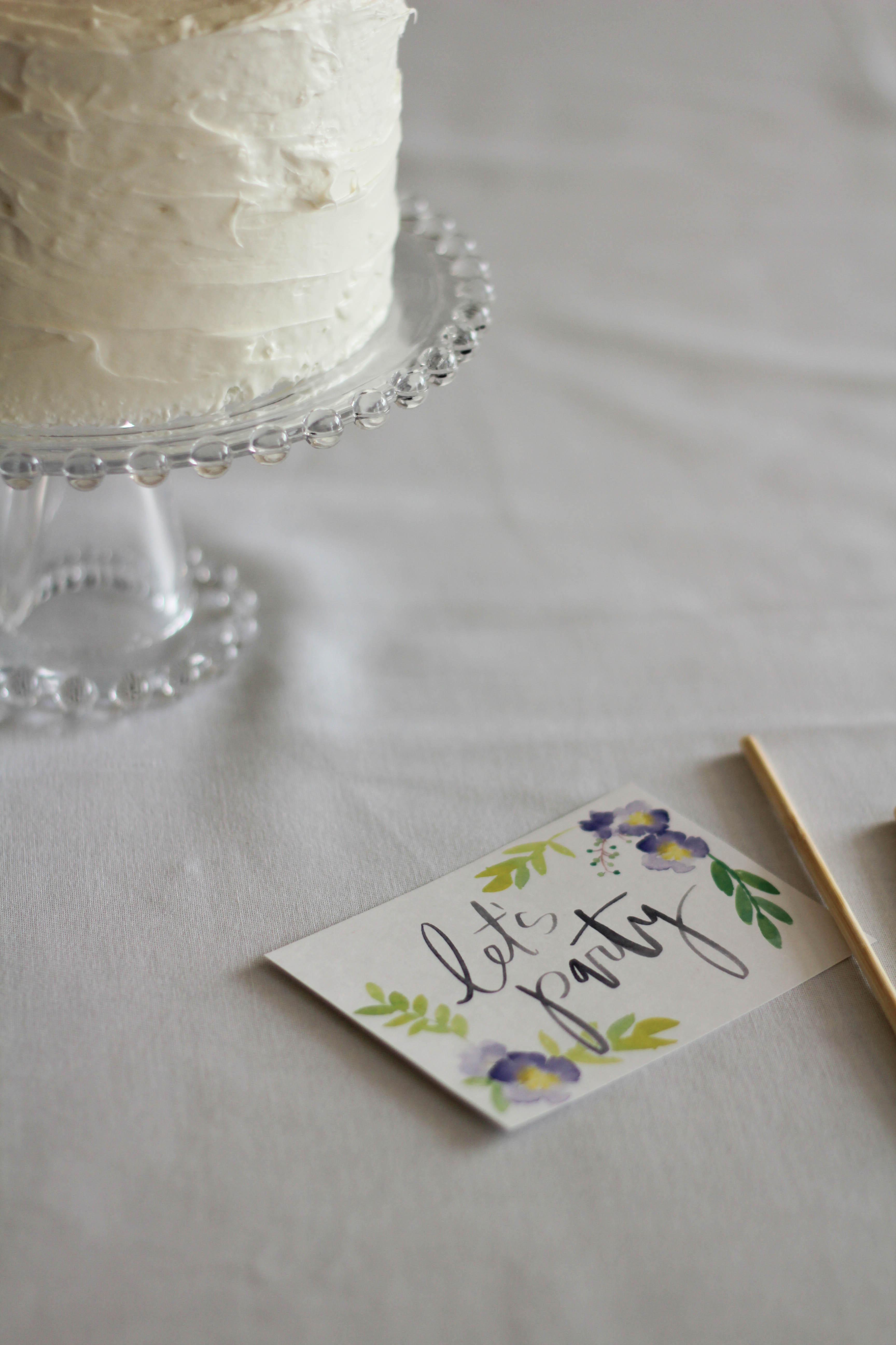 Printable Floral Cake Topper Let s Mingle Blog
