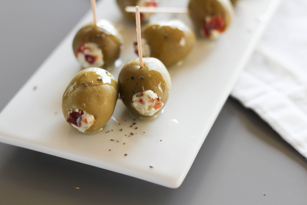 Bacon and Blue Cheese Stuffed Olives