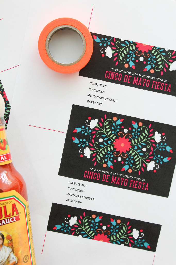 Printable Cinco De Mayo Hot Sauce Invitation