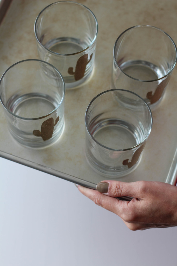 DIY Cactus Glasses