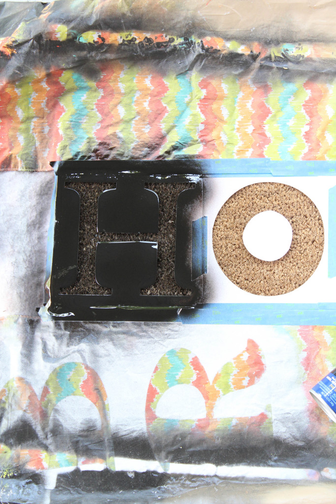 DIY Donut Door Mat