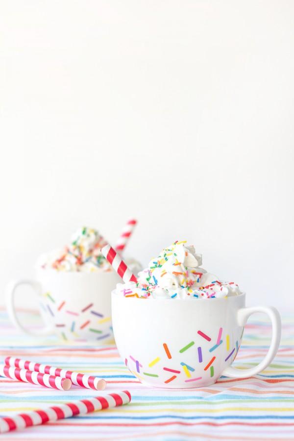 DIY Sprinkle Mugs