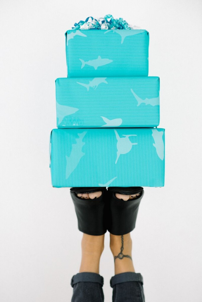 Printable Shark Gift Wrap