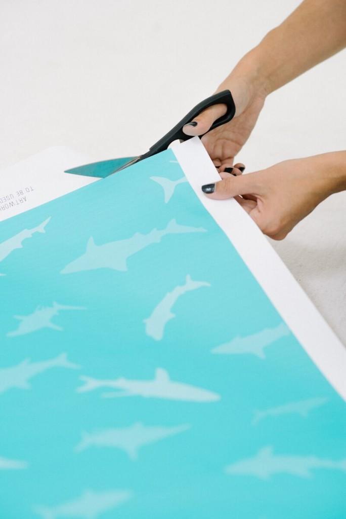 Printable Shark Gift Wrap