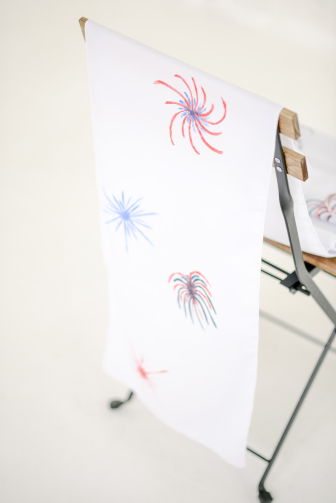 DIY Fireworks Table Runner