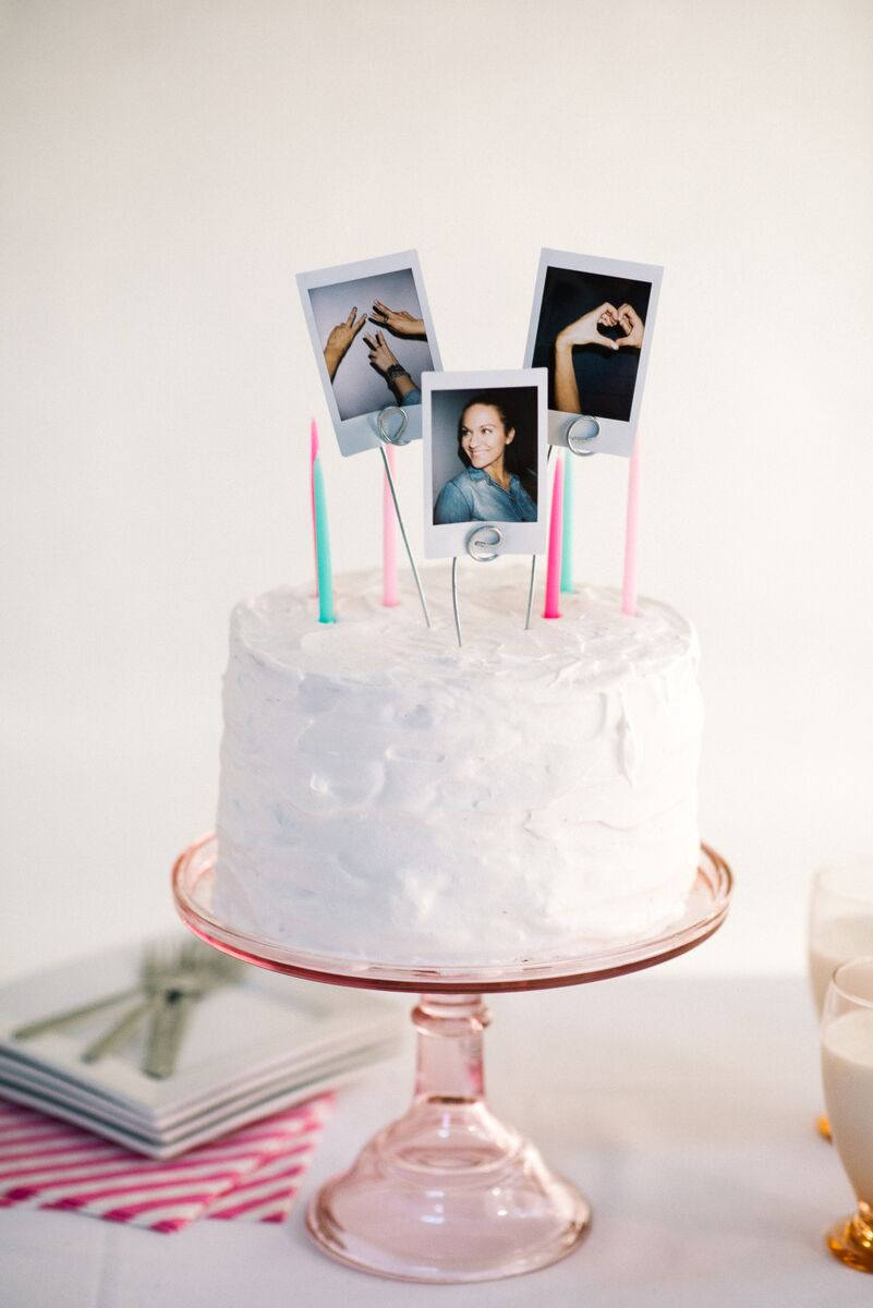 how to preserve your wedding cake topper diy polaroid cake topper let s mingle 16122
