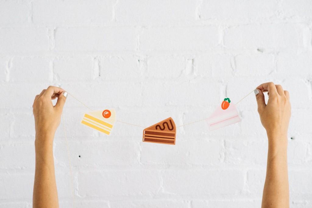 Mini Cake Banner Printable