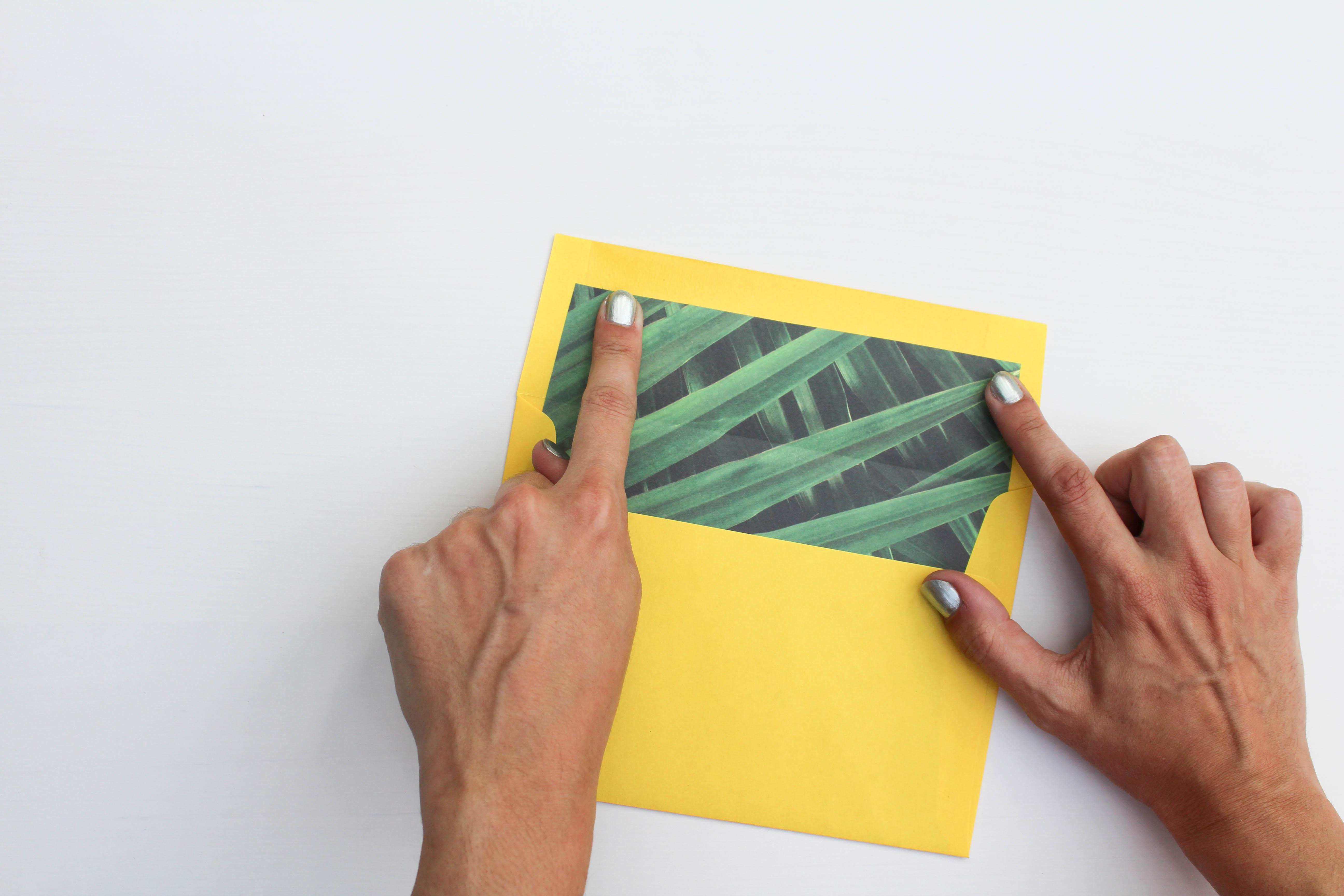 Diy Envelope Liners Lets Mingle Blog