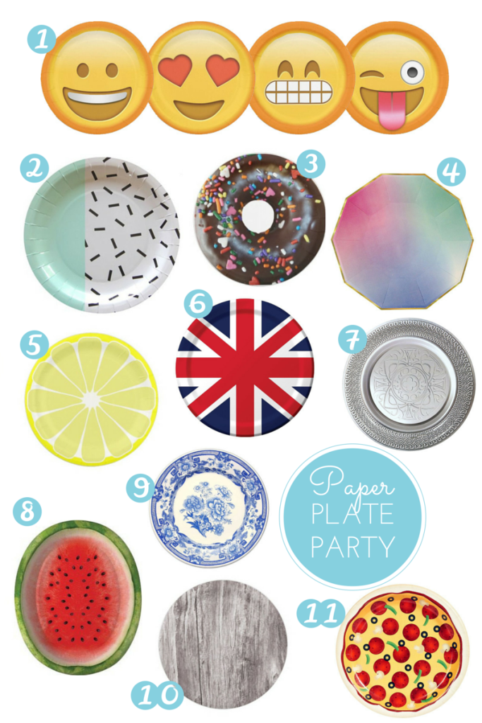 The Best Paper Party Plates