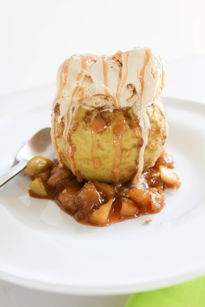Caramel Ice Cream Baked Apples