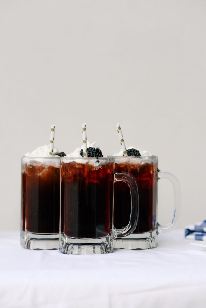 Dr. Pepper Soda Floats