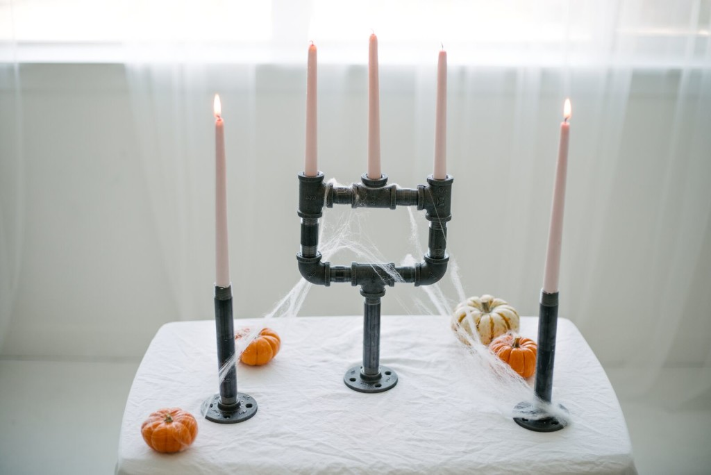 DIY Pipe Candelabra