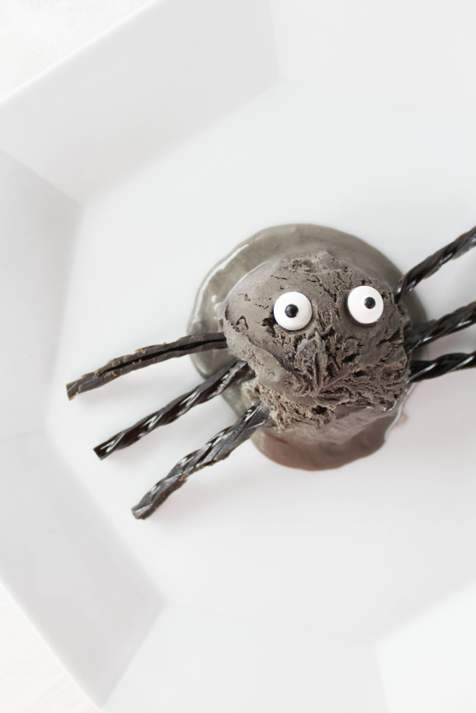 Black Licorice Ice Cream Spiders