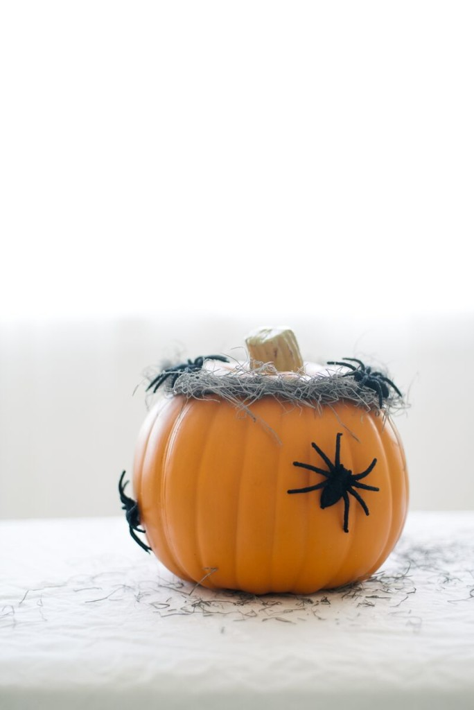 DIY Spider Pumpkins