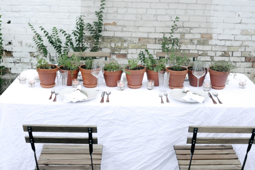 Herb Tablescape