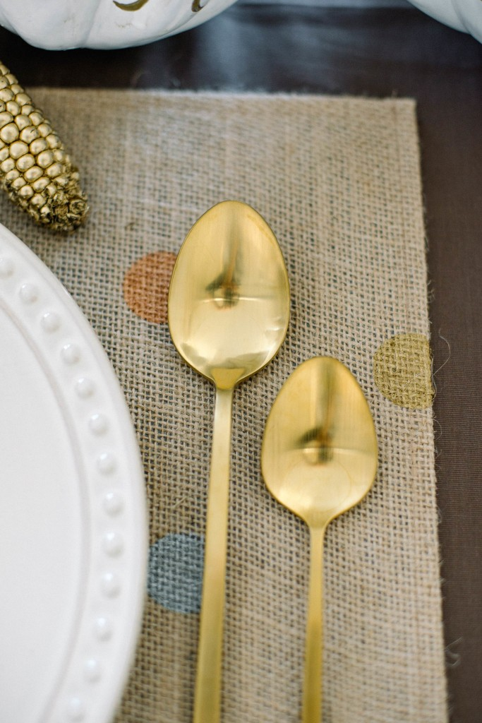 Metallic Polka Dot Placemats