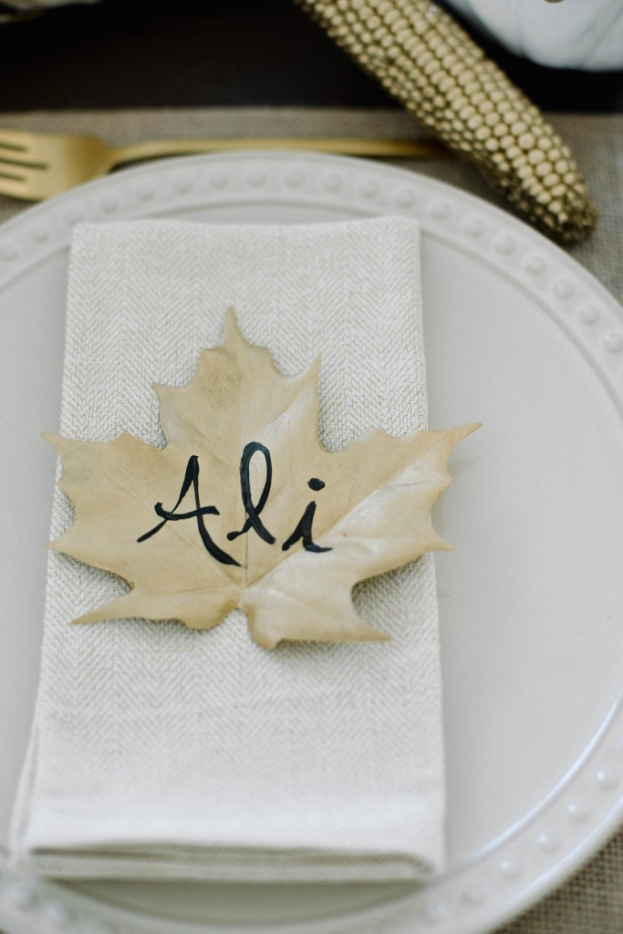 Gold Leaf Placecards