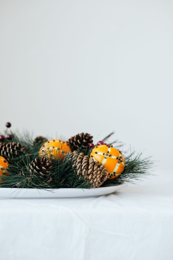 Orange Clove Pomander Centerpiece