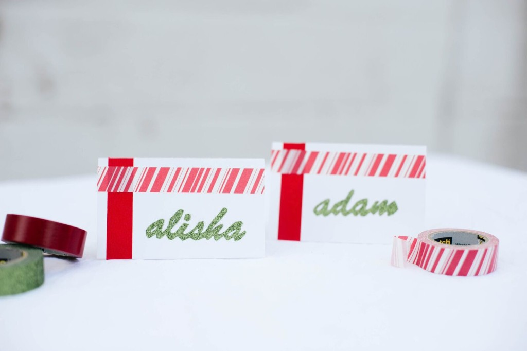 -Washi Tape Place Cards