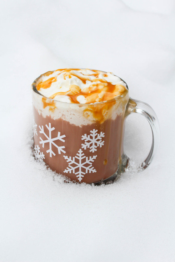 Frozen Caramel Hot Chocolate