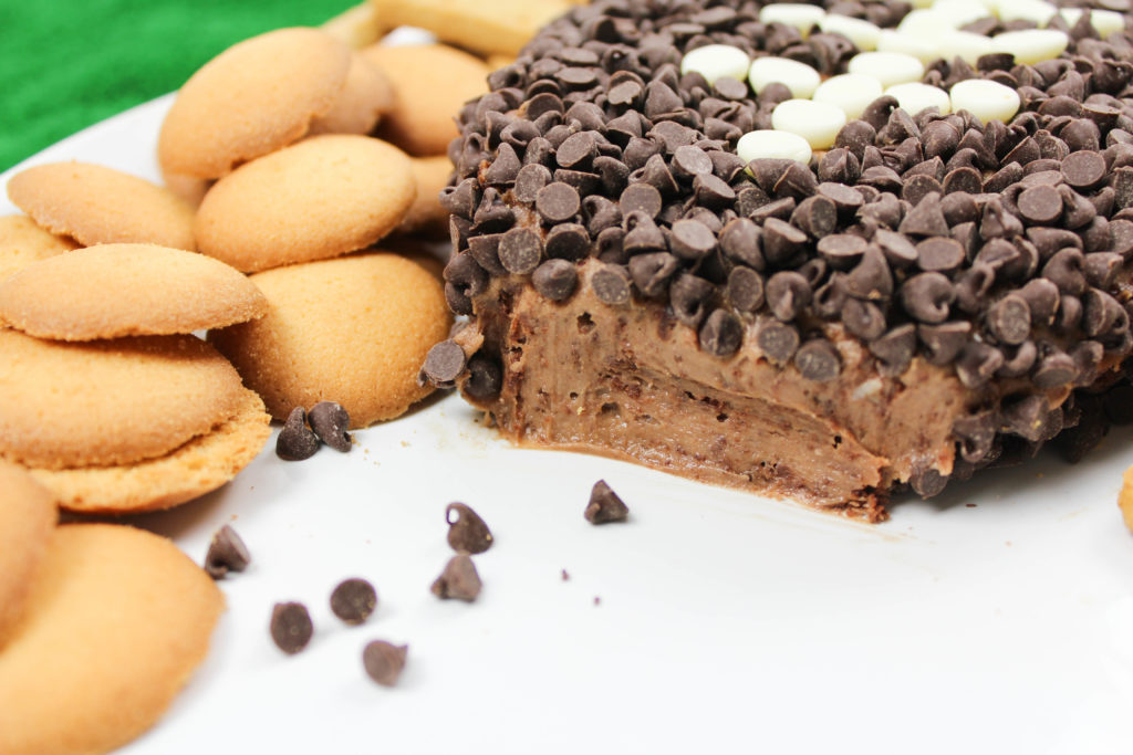 Chocolate Brownie Football Cheese Ball