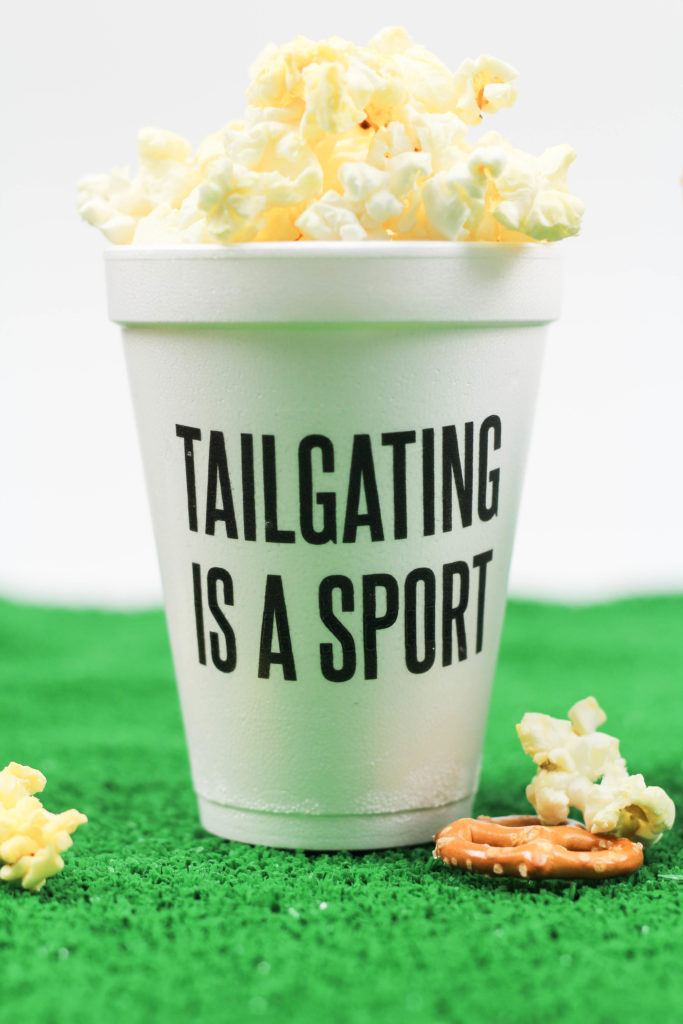 DIY Football Party Cups