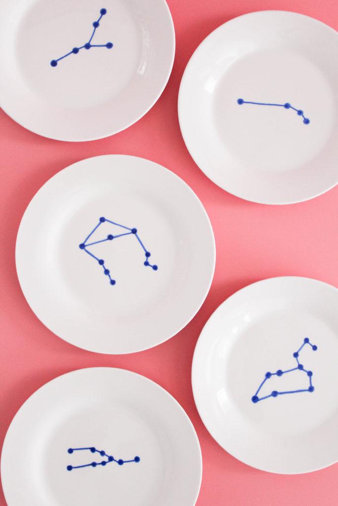 DIY Zodiac Appetizer Plates