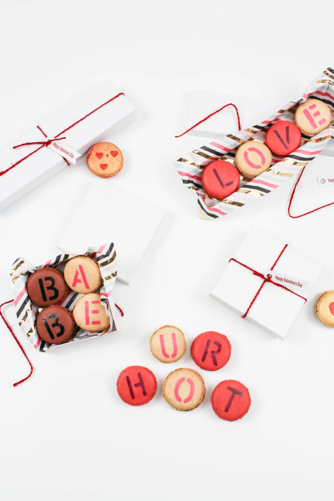 DIY Valentine's Day Message Macarons