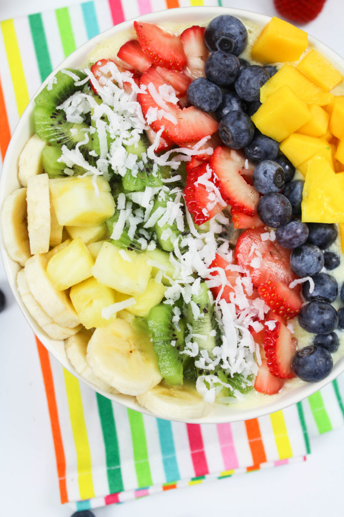 Tropical Rainbow Smoothie Bowl Recipe