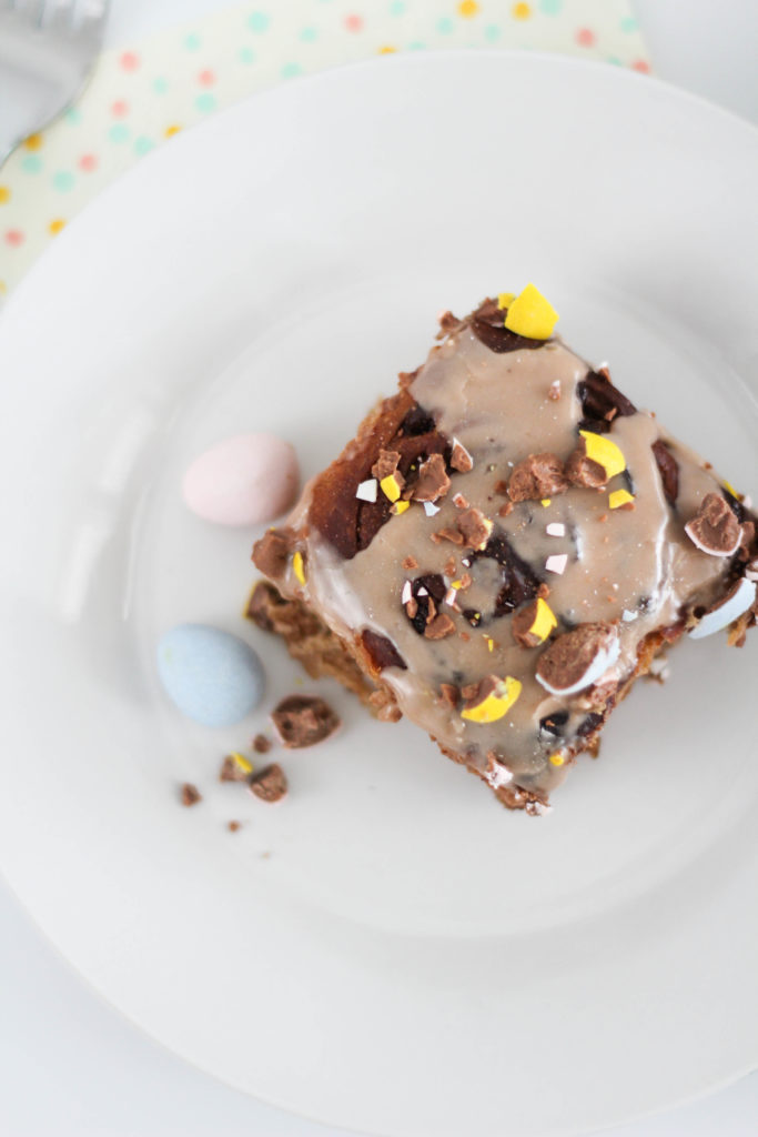 Chocolate Easter Cinnamon Rolls