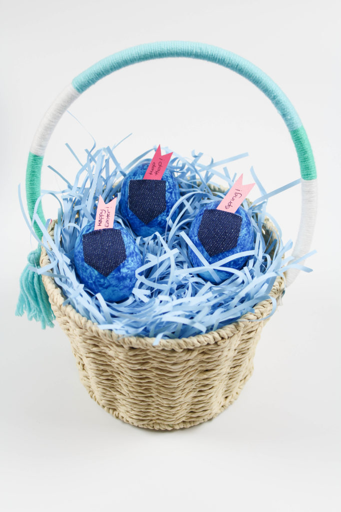 DIY Jean Easter Eggs