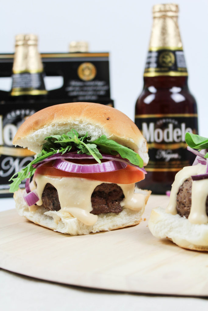 Beer Burgers with Melted Beer Cheese