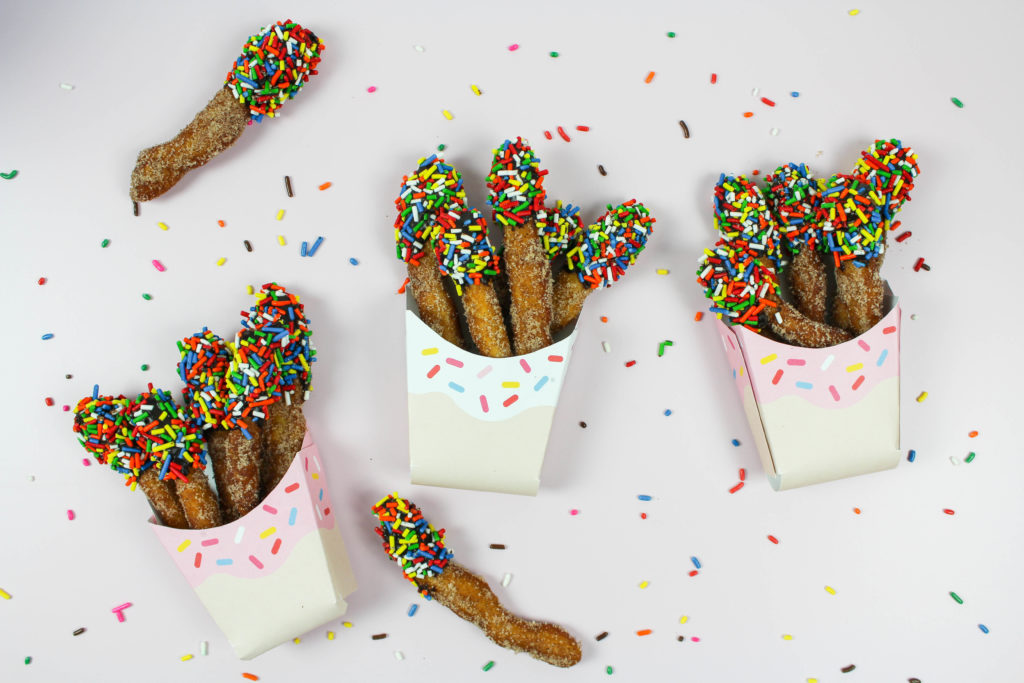 Chocolate Sprinkle Donut Fries
