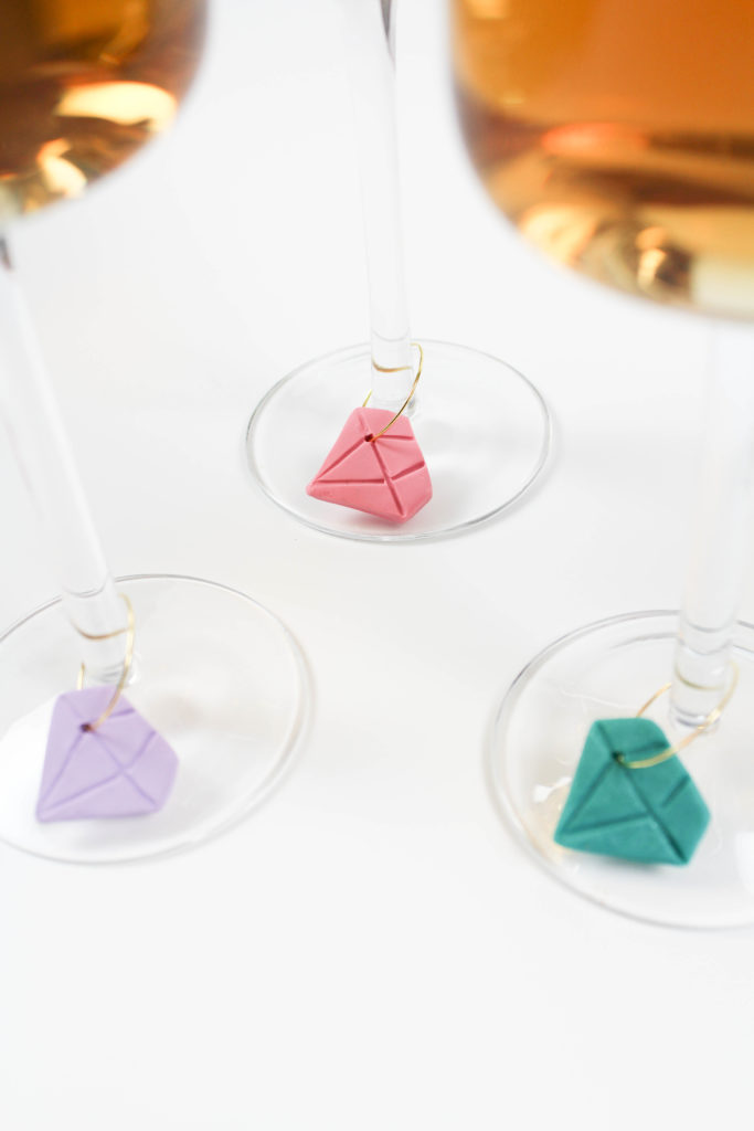 DIY Diamond Wine Charms