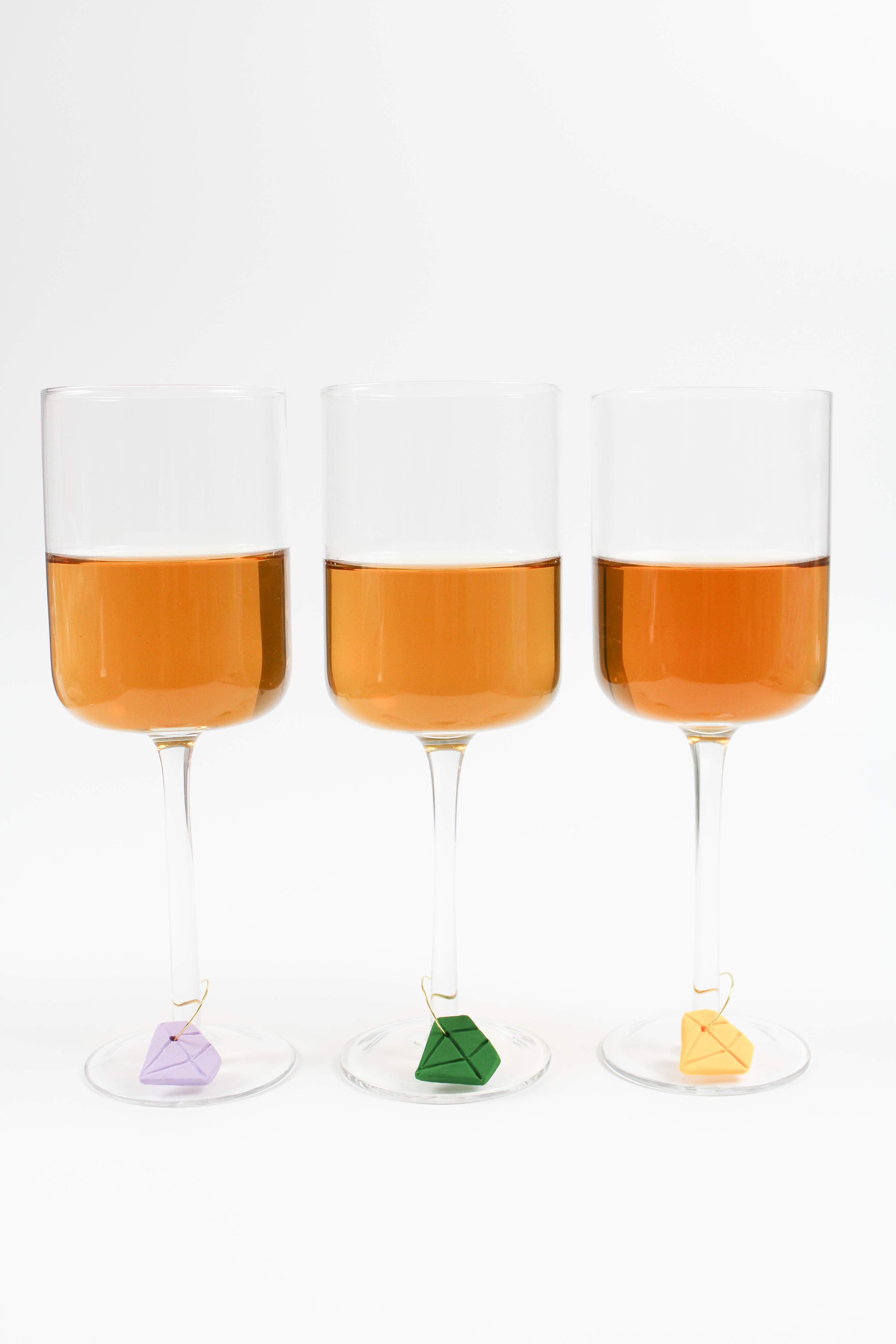 DIY Diamond Wine Charms - Let\'s Mingle Blog