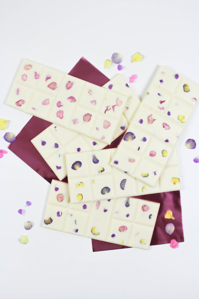 Edible Floral Chocolate Bars