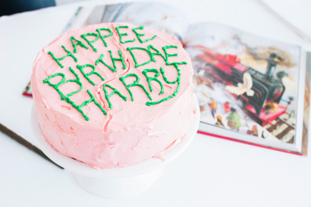 Harry Potter Butterbeer Birthday Cake