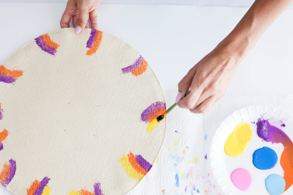 DIY Watercolor Placemats