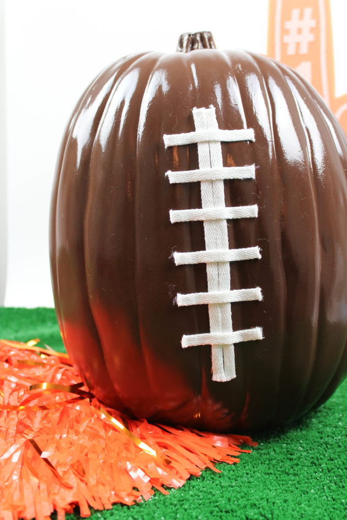 DIY Football Pumpkins