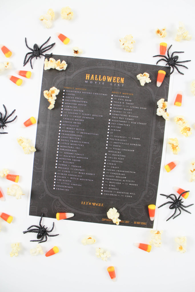Printable Halloween Movie List