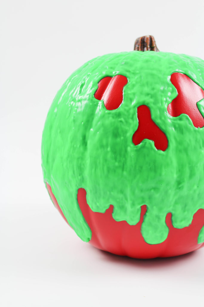 DIY Halloween Poison Apple Pumpkin