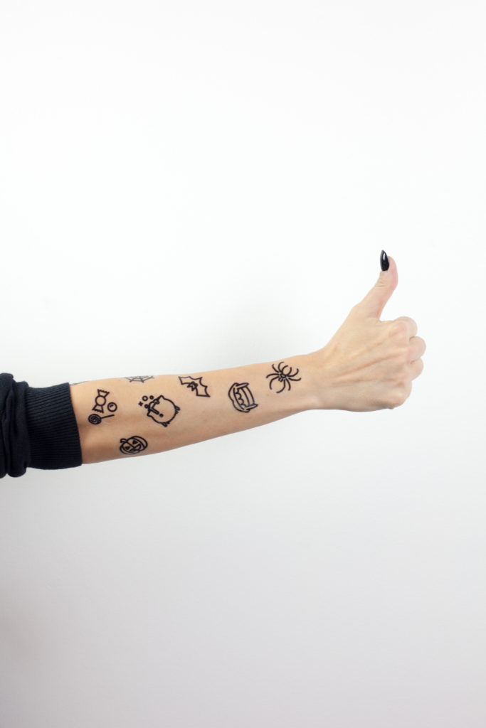 Printable Halloween Temporary Tattoos