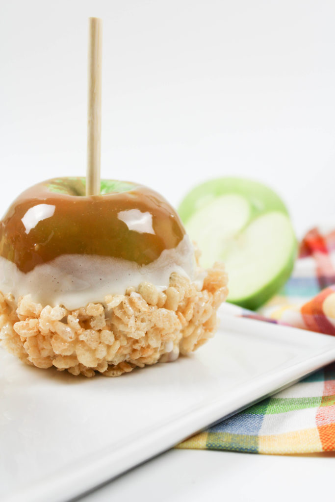 Marshmallow Cereal Treat Caramel Apples