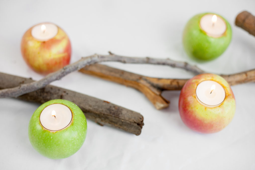 DIY Thanksgiving Apple Centerpiece