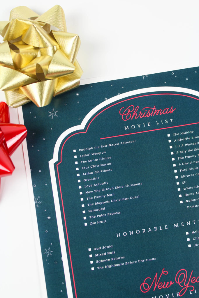 Printable Christmas Movie List