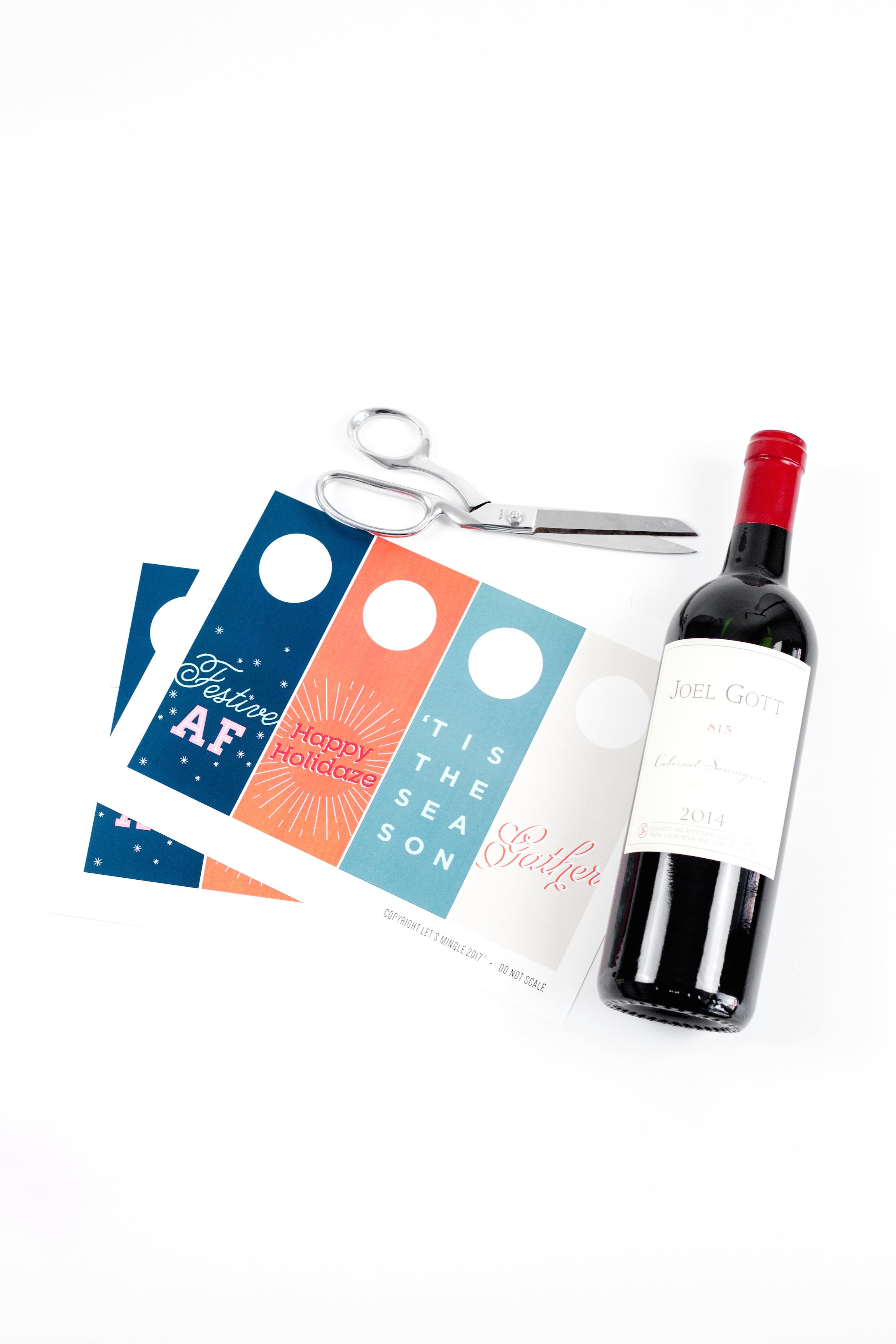 picture regarding Printable Wine Bottle Tags identified as Printable Wine Bottle Present Tags - Allows Mingle Weblog