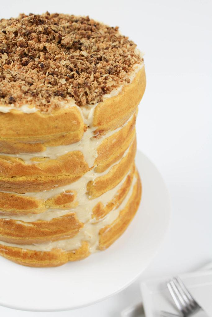 Pumpkin Waffle Cake