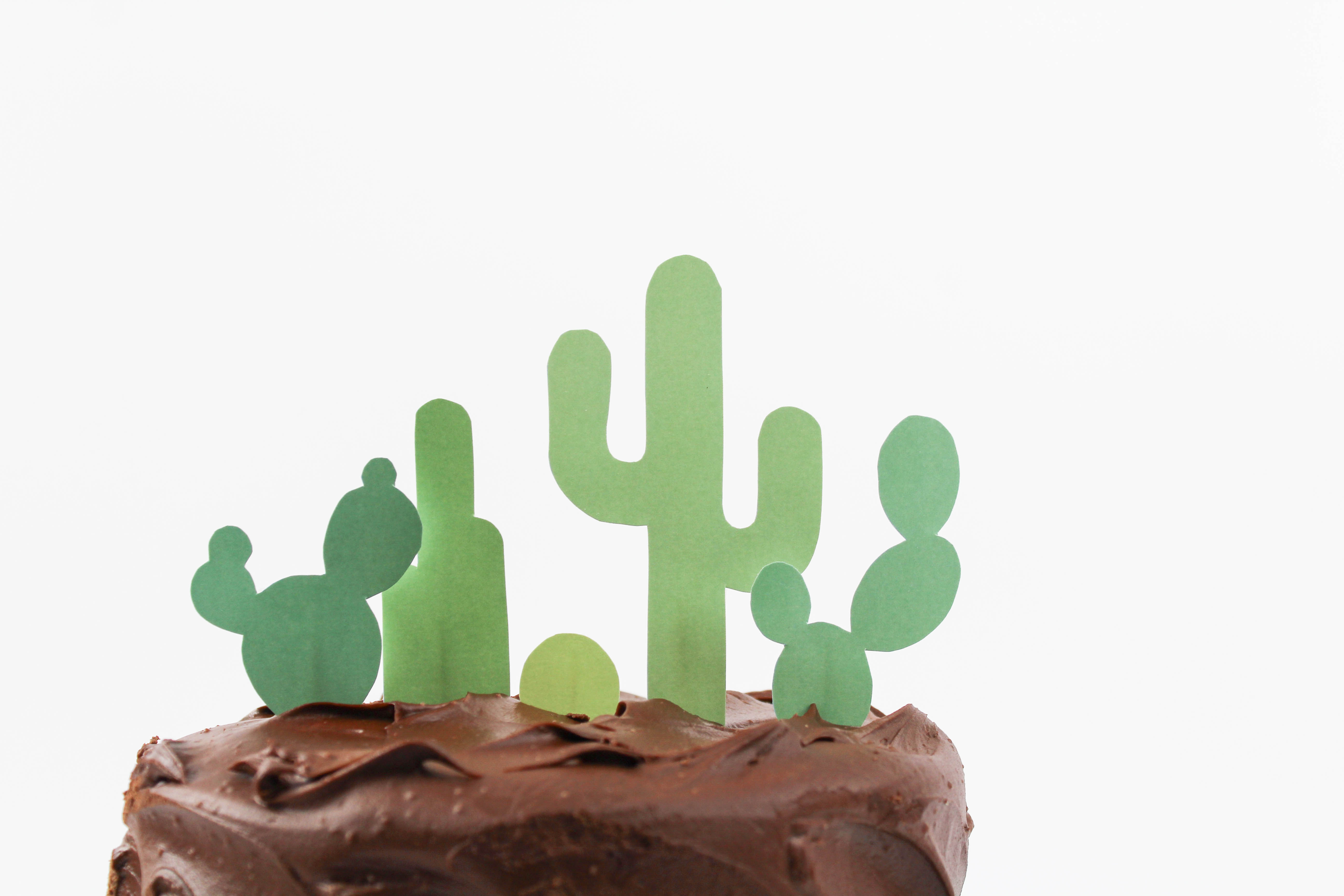 image about Cactus Printable known as Printable Cactus Cake Topper - Allows Mingle Weblog