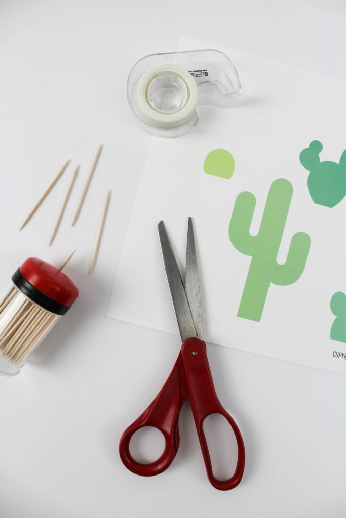 Printable Cactus Cake Topper